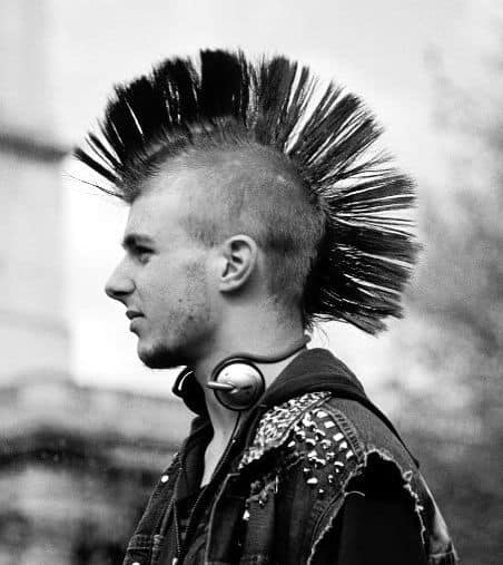 Photo of mohawk haircut.