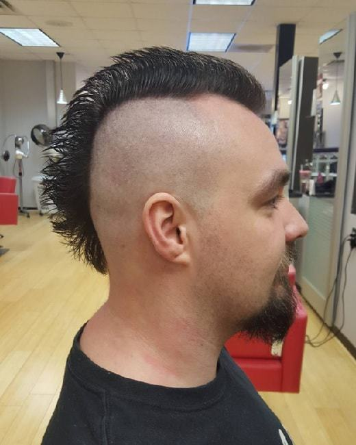 shaved mohawk for men