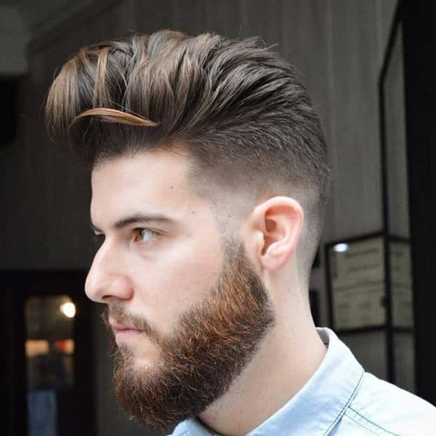 mohawk with pompadour for men