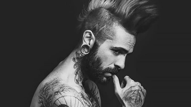 Dramatic mohawk styles for men