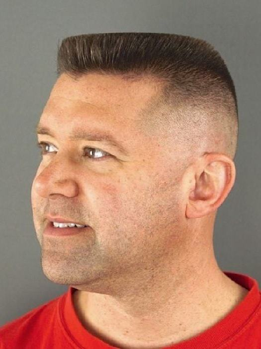 patchy men's Mohawk