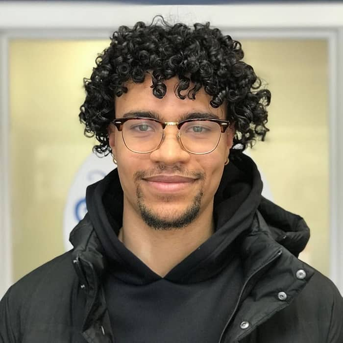 curly mop top hair