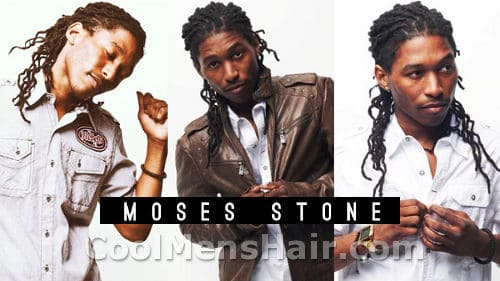 Moses Stone Dreadlocks hairstyle photos.
