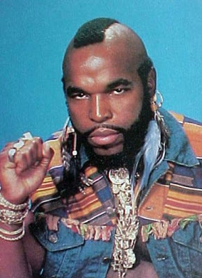Mr. T black mohawk hairstyle picture
