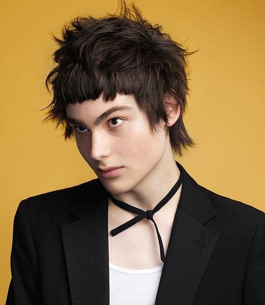 Tousled Mullet Hair for Men