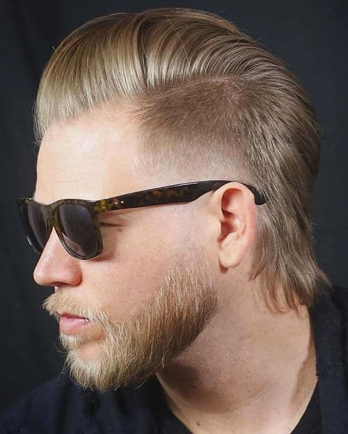 Mullet with Side Part for Men