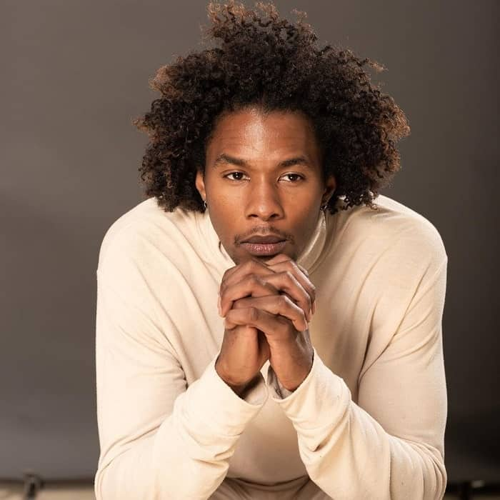 Natural Curly Hair For Black Men