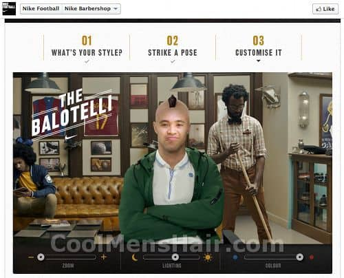 Picture of Nike Barbershop application third step.