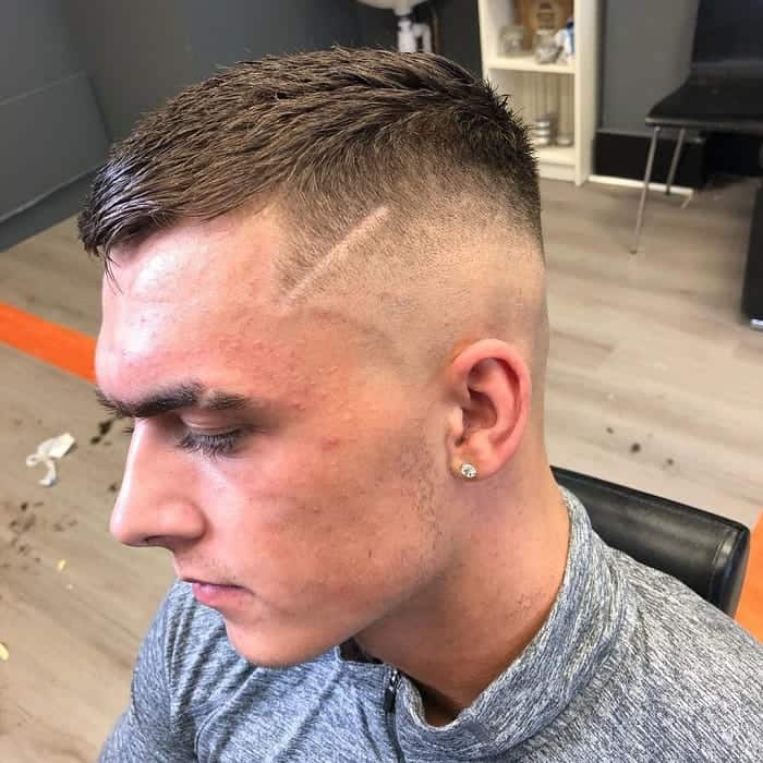 Number 4 Buzz Cut with Skin Fade