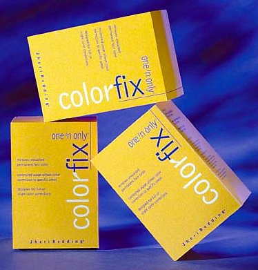 Picture of three packages of One n Only Colorfix.