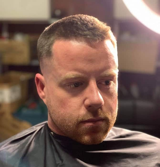 crew cut for men with oval face shape