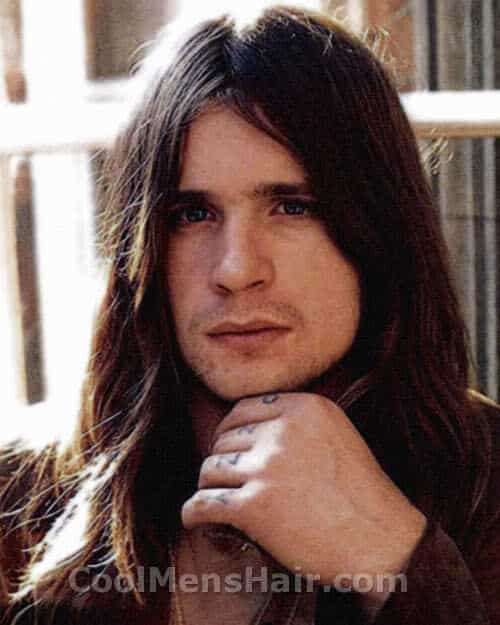 Photo of Ozzy Osbourne hairstyle.