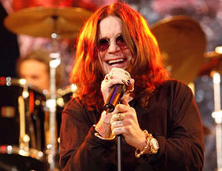 Picture of Ozzy Osbourne long hair.