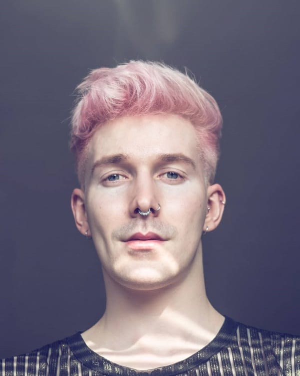 Pastel Pink Hair For Men