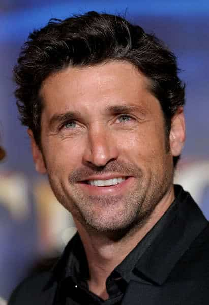 Patrick Dempsey with a day's worth of stubble on his chin