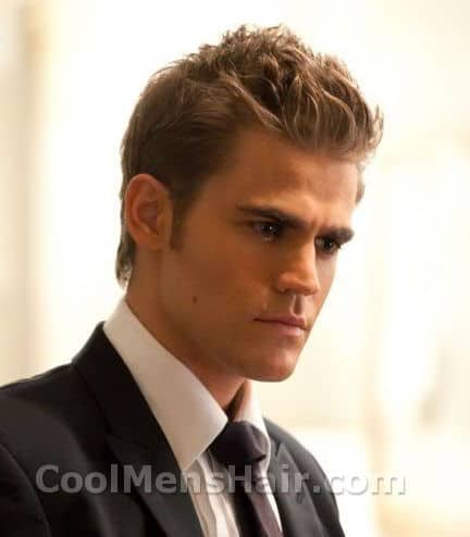 Photo of Paul Wesley hairdo.