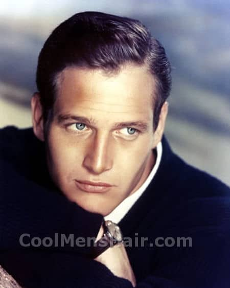 Picture of Paul Newman side parted hairstyle.