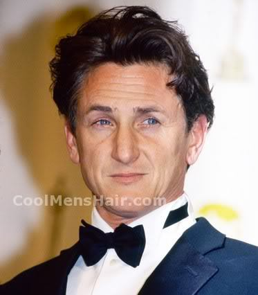 Photo of Sean Penn hairstyle.