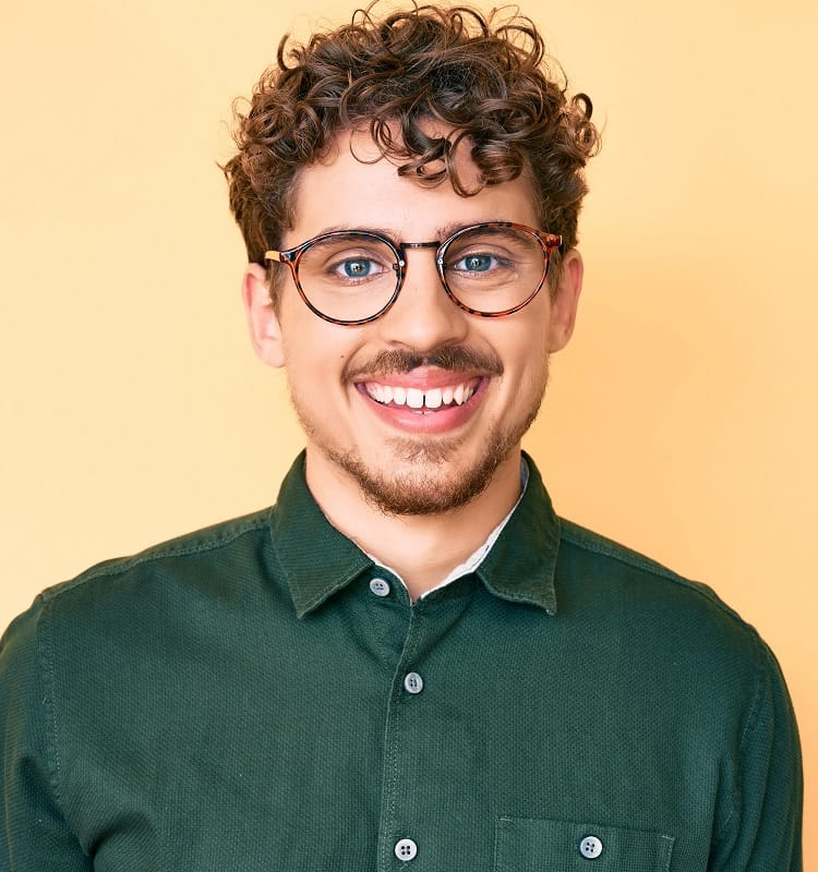 perms for guys with glasses