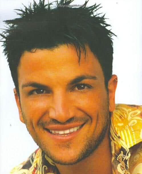 Photo of Peter Andre spiky hairstyle.