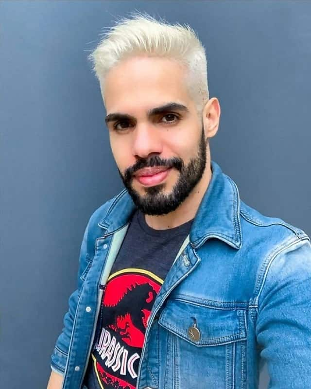 men platinum blonde hair