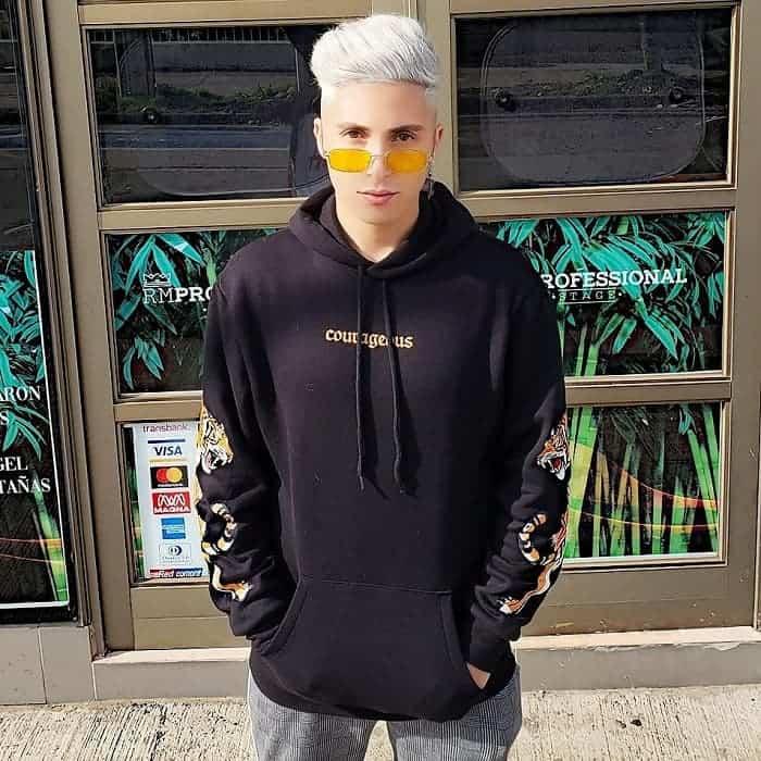 platinum blonde hairstyles for men