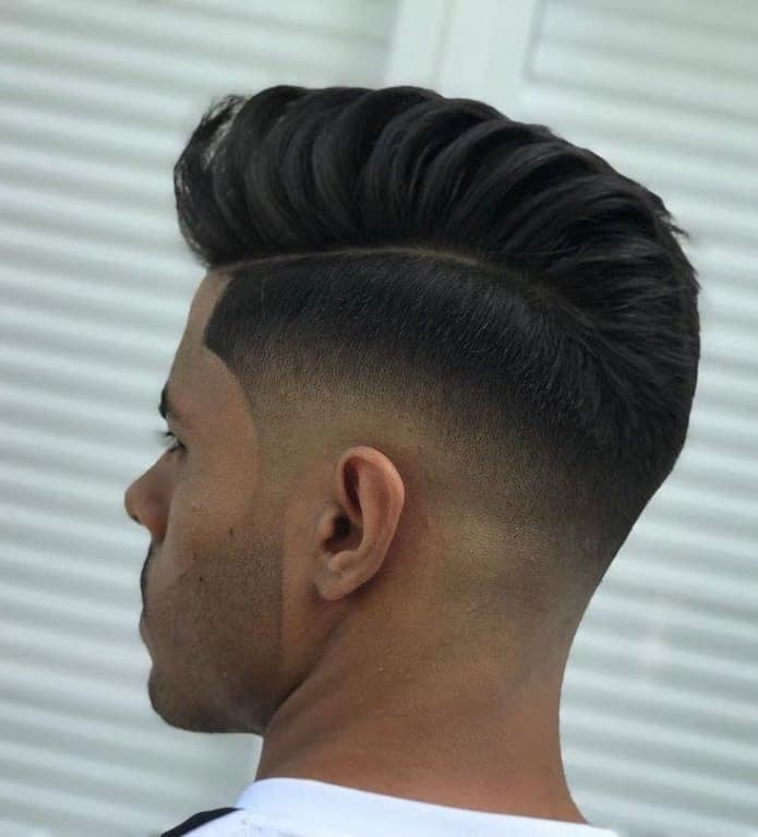 comb over pompadour with side part