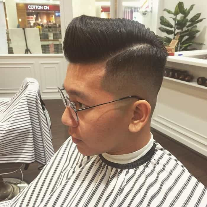 side part pompadour for men