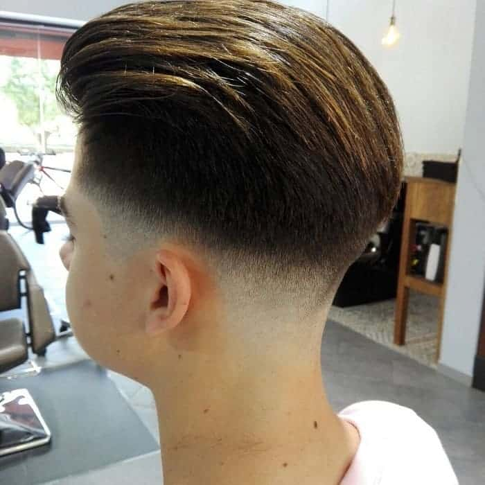 pompadour haircut with low fade