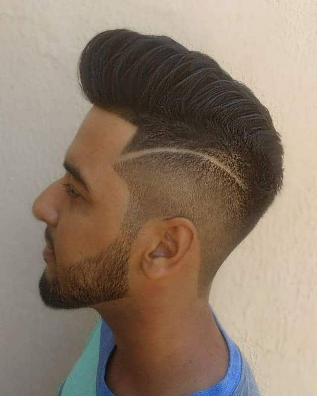 pompadour haircut with taper fade