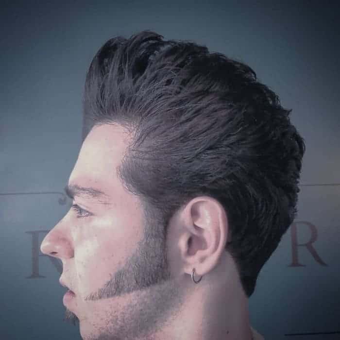 shaped pompadour haircut for men