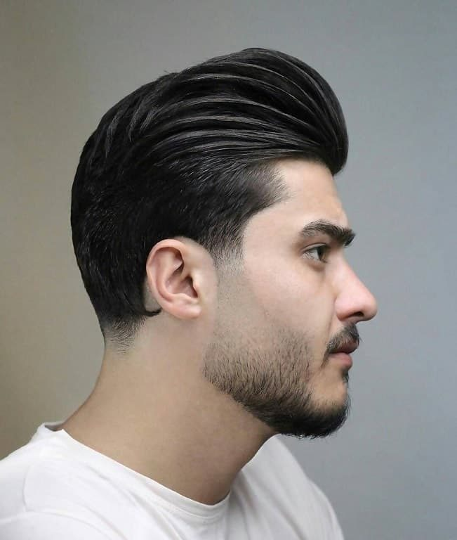 professional hairstyle with pompadour