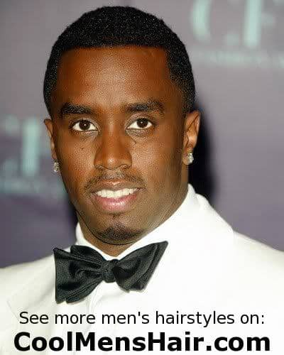 Picture of Sean Combs short hairstyle.