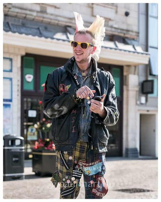 double spike punk mohawk