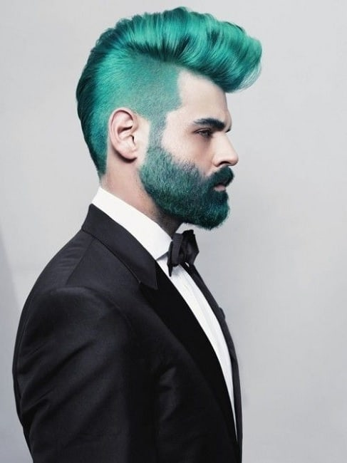 punk hair color for men