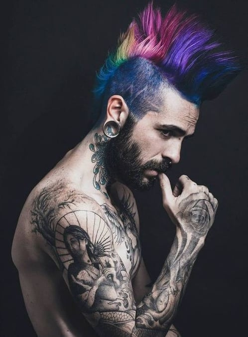 mohawk punk hairstyles