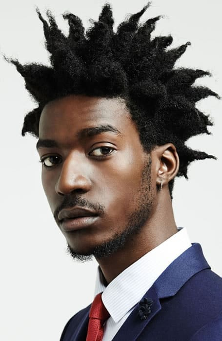 punk hair for black men