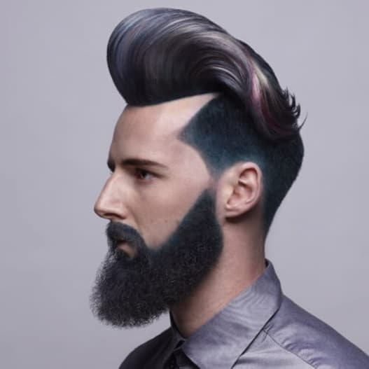 punk pompadour for men