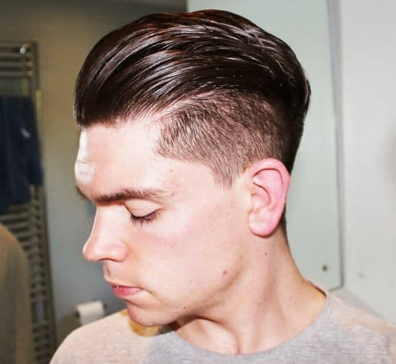 punk hairstyle with undercut