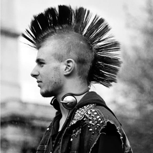 punk mohawk hairstyle for men