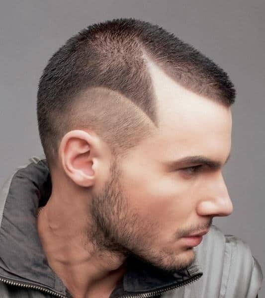 shaved punk hairstyle for men