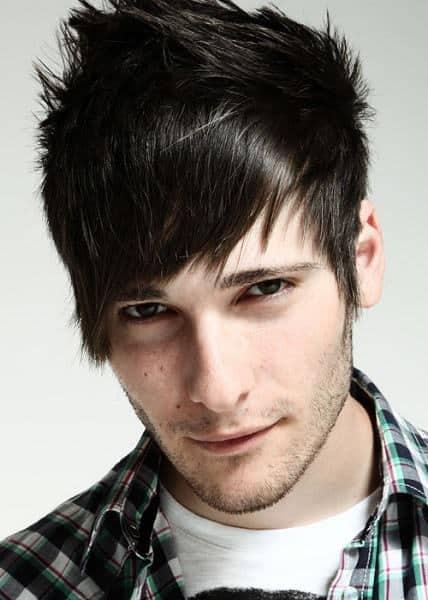 punk hairstyle for medium hair