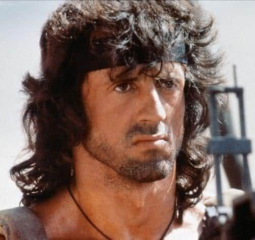 Photo of Rambo hairstyle.