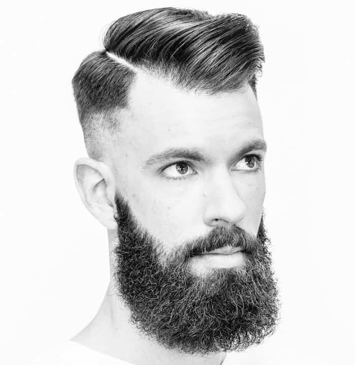 receding hairline haircut with hard part