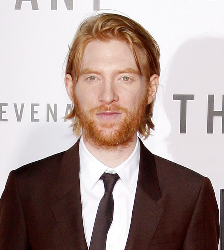 red haired actor with beard - Domhnall Gleeson