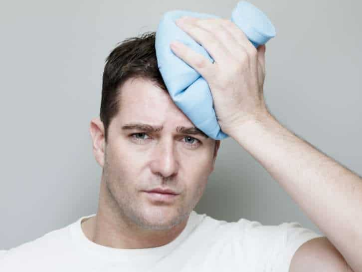 Ice method to remove hard wax from men's hair