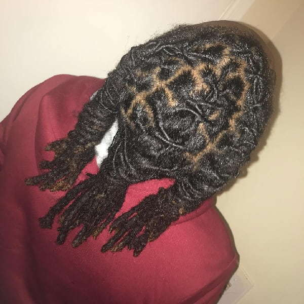 braided re-twist dreads for men