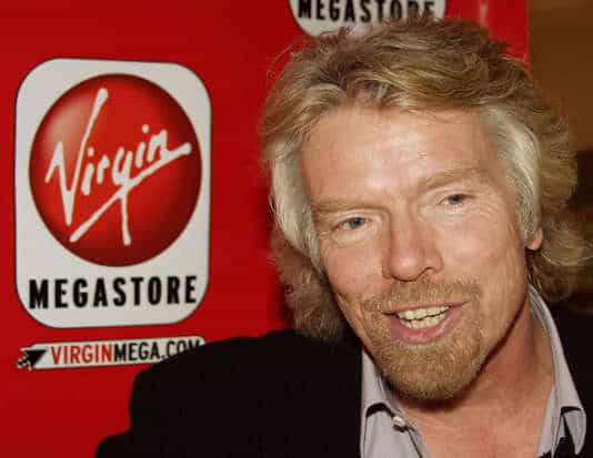 Photo of Richard Branson hairstyle.