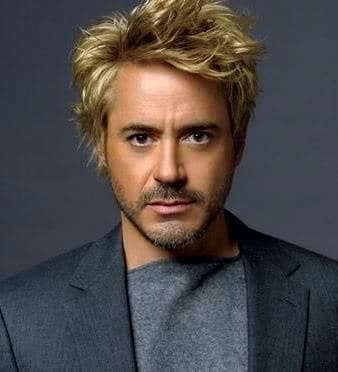 Image of Robert Downey Jr. blonde hairstyle.