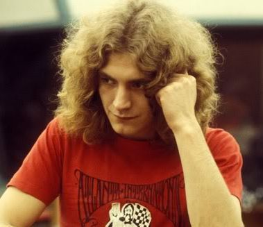 Robert Plant long hairstyle picture.
